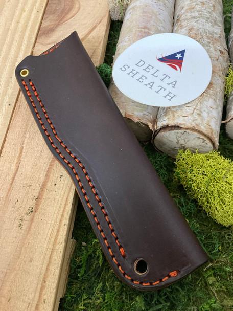 Leather sheath. Bushcraft leather sheath.