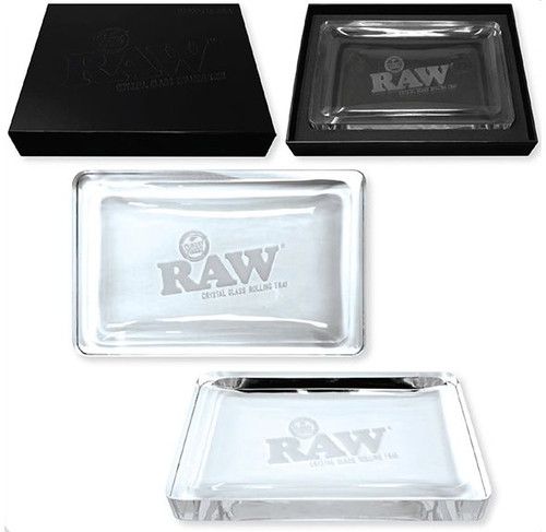 Raw Crystal Rolling Tray (Center Etched!)