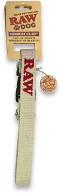 RAW Hemp Pet Collar Medium: 12″ to 20″