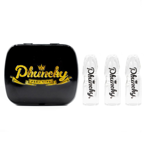 Phuncky Feel Tips 10MM CLEAR 3 PACK PHUNCKY PHONT (FLAT)