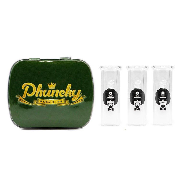 Phuncky Feel Tips 10MM DR. GREENTHUMB LOGO CLEAR 3 PACK (ROUND)