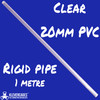 Clear PVC pipe 1 m rigid from Klever Cages Australia