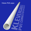 15mm PVC pipe white 1 metre long white from Klever Cages for building PVC projects