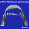20mm Aluminium Grip Clamp from Klever Cages with an ID of 28.10mm