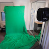 DIY green screen for photography or videography frame built with PVC pipe, PVC connectors, l tees, elbows, caps and green snapclamps from Klever Cages