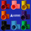 Coloured-3-way-20mm-connectors-to-fit-PVC-pipe-from-Klever-Cages-Australia-colours-include-red-coral-yellow-orange-purple-black-blue-and-green