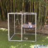 Small cat enclosure catio built with PVC pipe and Klever Connectors from Klever Cages. Can be used as an indoor and outdoor enclosure. It is a great little house for your furbaby to keep them safe and comfortable