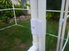 Snap cross attached to a door frame - PVC pipe