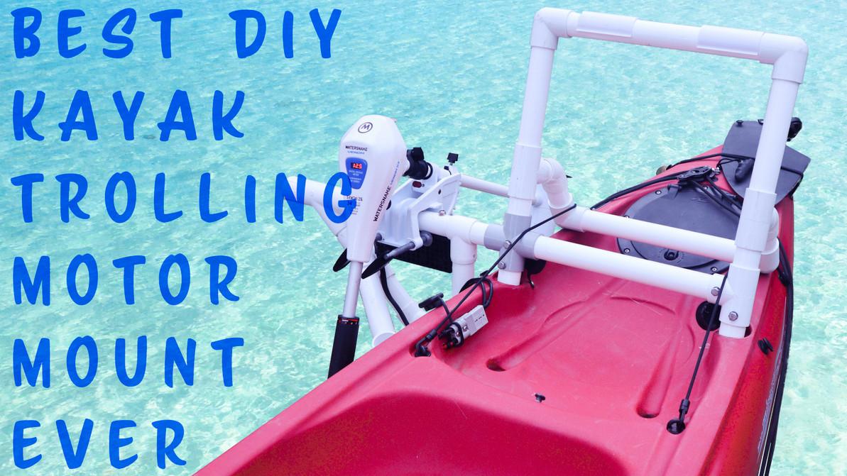 Best DIY Kayak trolling motor mount ever