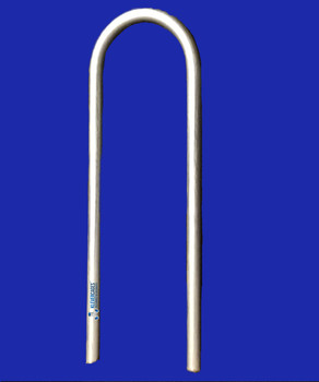 Galvanised steel peg for 32mm and 40mm Pipe. The steel is 10mm thick and will keep your or project on the ground whether it be a chicken coop , garden protection or cat enclosure.