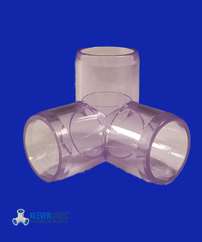 Clear PVC 3way connector from Klever Cages