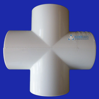 4 way 32mm cross connector fitting to fit 32mm PVC pipe with an outside diametre of 42.10mm. The 32mm cross is used for projects including greenhouses, shadehouses, asbestos containment enclosures and more.