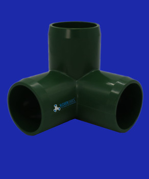 Green PVC connector fits to standard PVC plumbing pressure pipe - Klever Cages