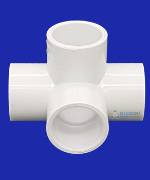 25mm PVC L-tee connector , fits to PVC plumbing pipe. Great for making shelves for your next project from Klever Cages