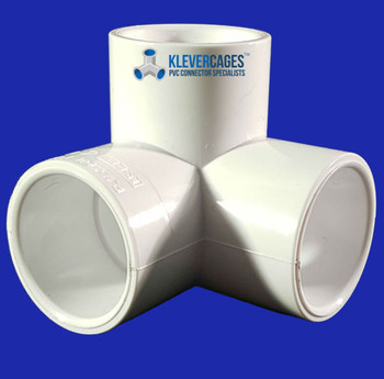 25mm 3 way PVC connector to make anything you want. Projects include garden Protection ,  cat enclosures , dog agility jumps , cross stitching frames and many more ideas from Klever Cages