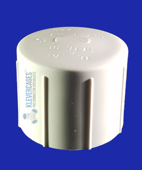 40mm PVC cap to fit PVC plumbing pressure pipe
