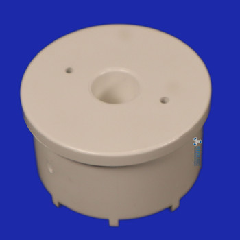 Castor cap insert from Klever Cages to fit into a connector then PVC plumbing pressure pipe to add castor wheels to your PVC project