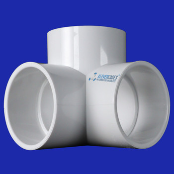 50mm 3way elbow connector fitting to fit PVC pipe for PVC projects including Greenhouses, garden protection, Covid barriers, soccer goal or camping equipment