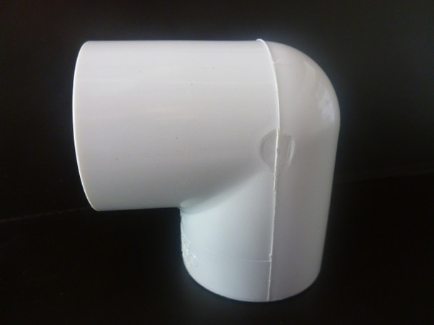90 degree elbow PVC connector suitable for frames and cages around the home and garden