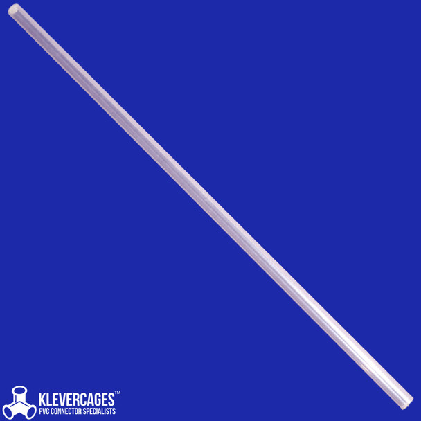 Clear rigid PVC pipe 20mm, 1m long fits connectors from Klever Cages Australia schedule 40