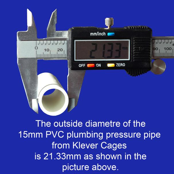 15mm PVC pipe outside diameter is 21.33mm in Australia