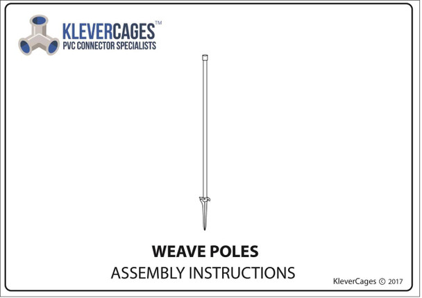 Free PVC plans PVC  dog agility weave pole instructions page one - Klever Cages