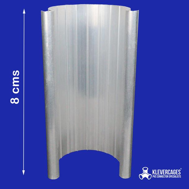 8cm long aluminium Grip Clamp for PVC projects