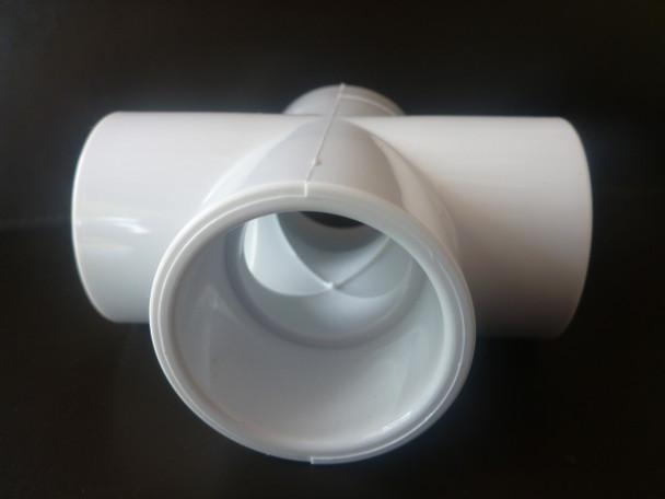 4 Way Cross PVC Connector - 25mm