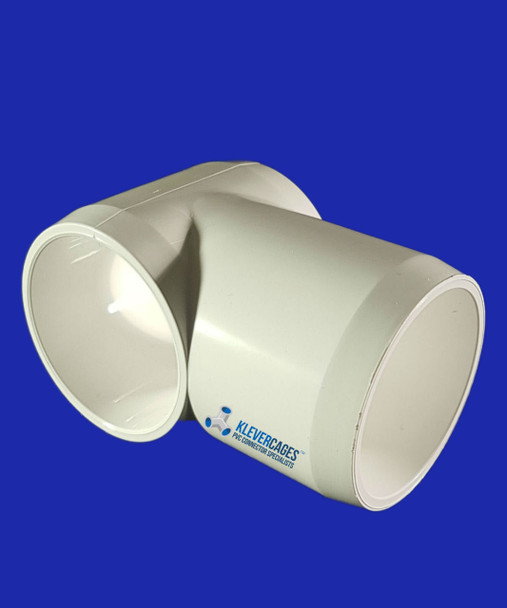 25mm PVC slip tee connector. This can be used for your next project such as a cat enclosure, garden enclosure or  any other project you can think of. Fits PVC plumbing pressure pipe.