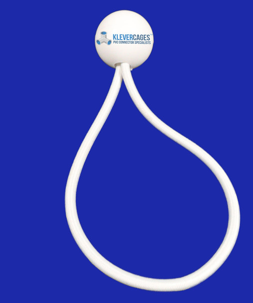 White ball bungee elastic cord from Klever Cages