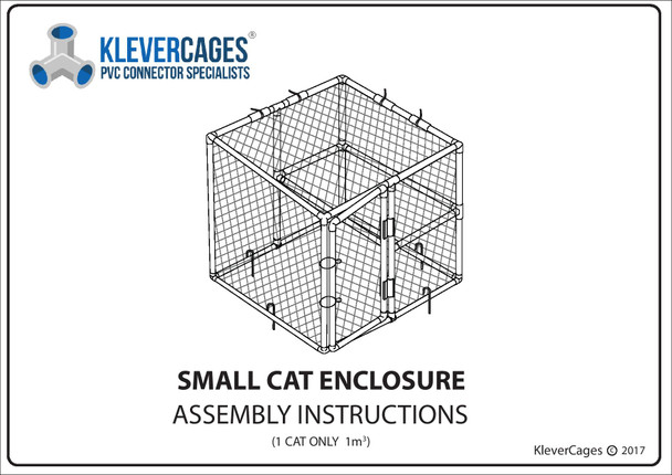 Free PVC plan for a small cat enclosure from Klever Cages Australia. Built with PVC pipe and Klever Connectors this catio is perfect for indoors or outdoors