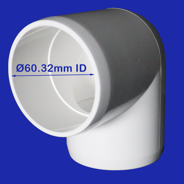 50mm-90-degree-elbow-Klever-Connector-PVC-with-an-inside-diametre-of-60.32mm