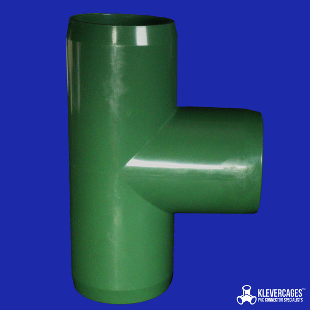 Green-25mm-Tee-Klever-Connector-fits-25mm-PVC-pipe-from-Klever-Cages-to-build-PVC projects