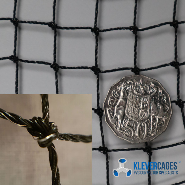 Stainless steel threaded netting from Klever Cages used for bird and pest exclusion-also used for pet/cat-enclosures to keep cats, guinea pigs, and rabbits safe