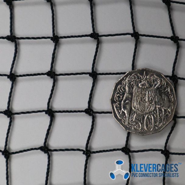 Heavy duty knotted netting from Klever Cages used in garden protection cages for bird and pest exclusion to protect your vegetables and also used for cat/pet enclosures