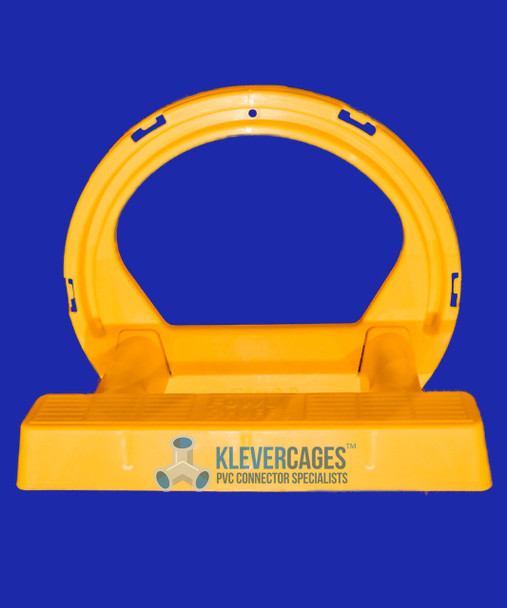 Yellow clip on chicken cover and perch from Klever Cages