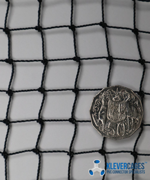 1.2m wide heavy duty knotted netting with heat strengthened joints great to cover a cat enclosure
