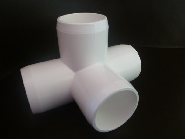 4 way L tee PVC connector suitable for frames and cages around the home and garden