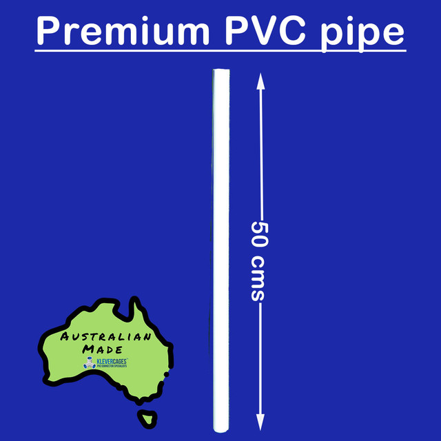 4 x 50 cm long, 20mm PVC pipe