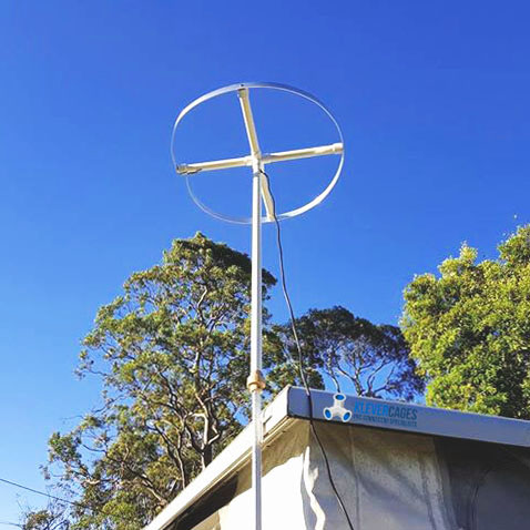 caravan tv antenna-aerial mount omni directional PVC cross Klever Cages