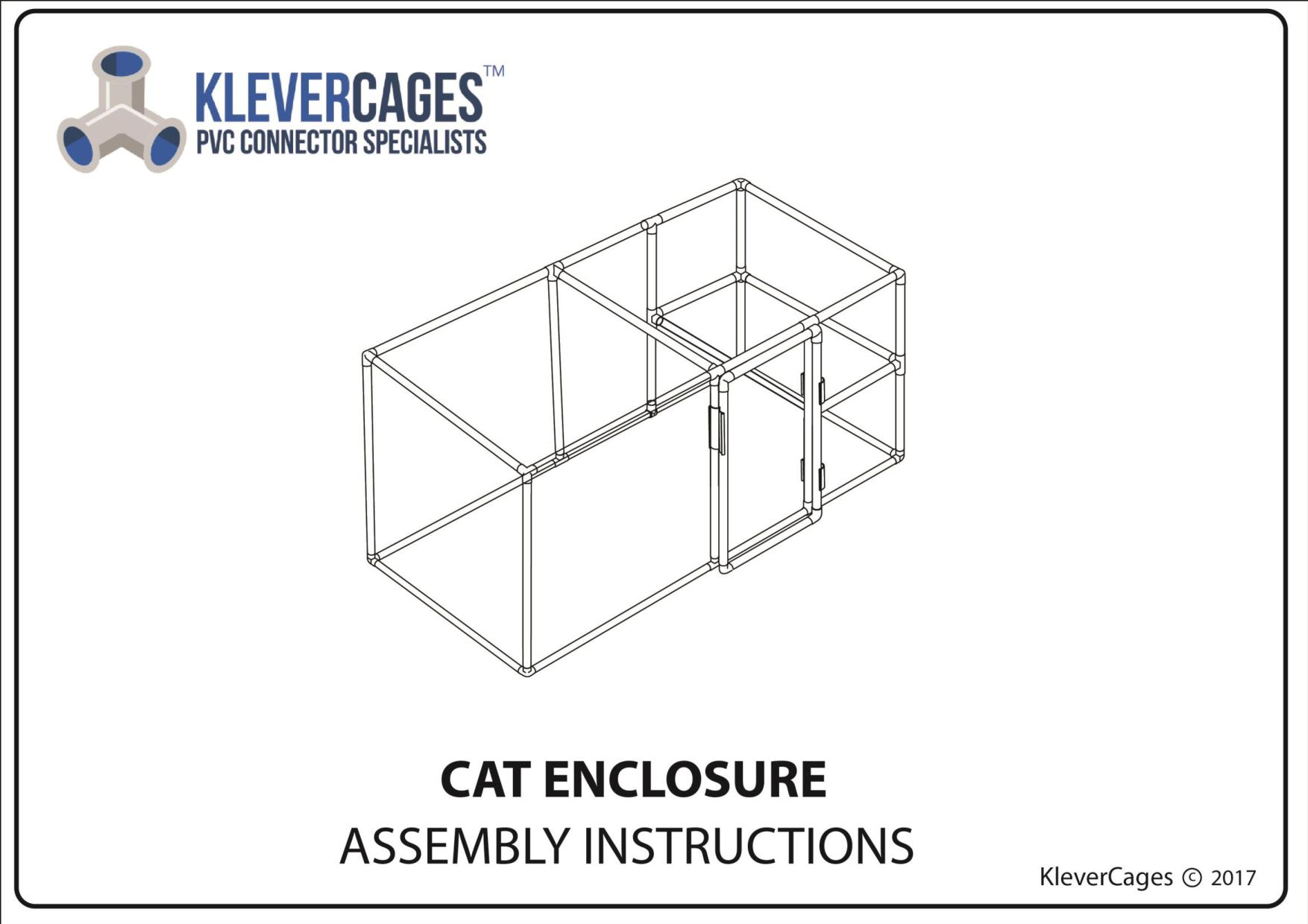 Free cat enclosure plans for download. Catio is made of PVC pipe and connectors from Klever Cages