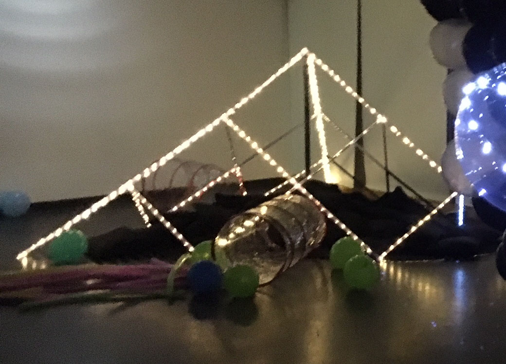 PVC built pyramid made from clear PVC pipe and connectors from Klever Cages