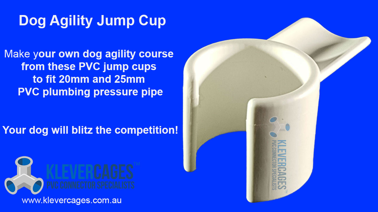 PVC jump cup for a dog agility course to clip onto PVC pipe to make dog agility equipment with available in 20mm and 25mm