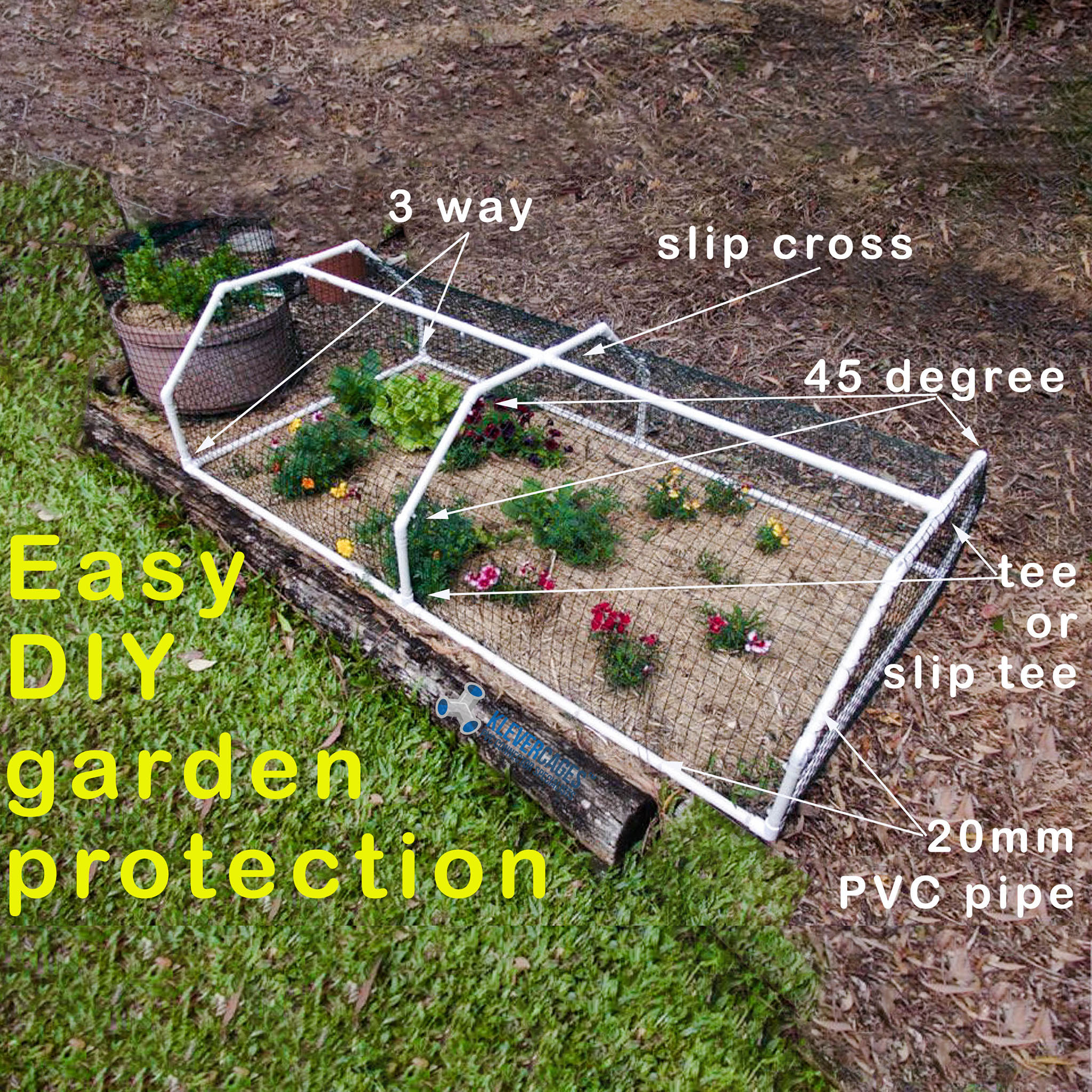 garden-protection-frame-built-with-PVC-pipe-and-klever-connectors-from-Klever-Cages-including-3-way-elbow-20mm