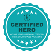 Certified Hero Klever Cages using Australian certified home compostable packaging