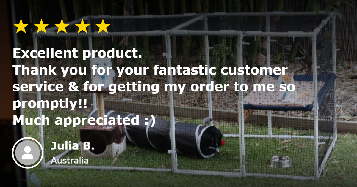 Klever cages 5 star review Excellent product Thankyou for your fantastic customer service and for getting my order to me so promptly Much appreciated