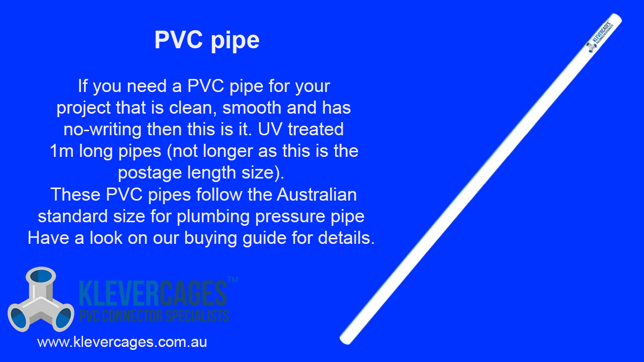 PVC pipe from Klever Cages, white, clean, no writing, perfect for your next PVC project, including, puppy play gym, garden, enclosure, kids indoor, cubby or sensory table