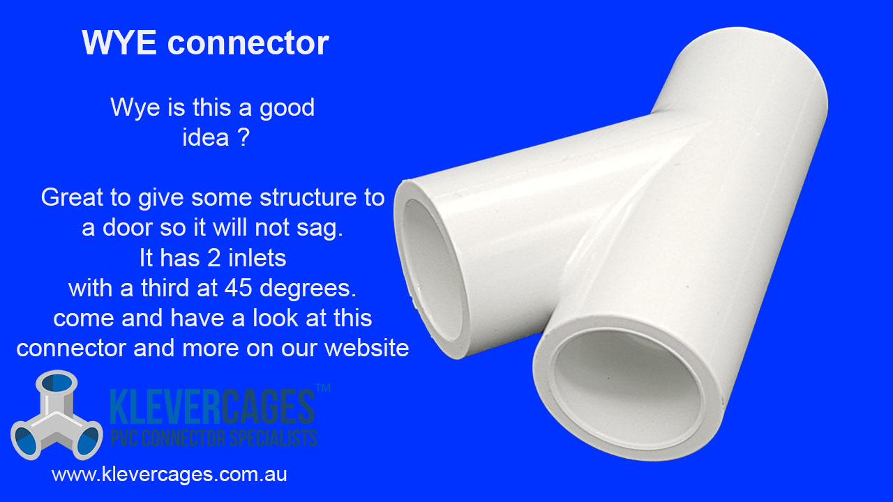 PVC Wye connector fitting fits PVC pipe to support your PVC project