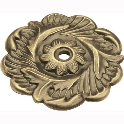 "2-3/8"" Dia. Cavalier Knob Backplate - Antique Brass"