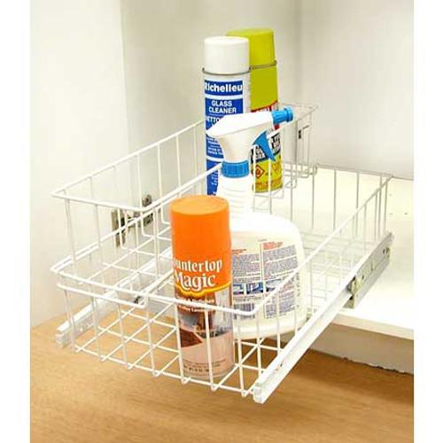 White Sliding Storage Basket - RLU-88110030